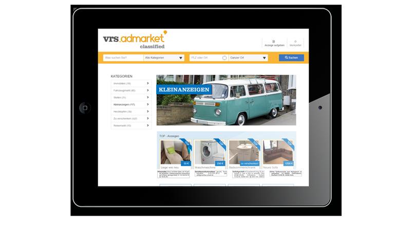 VRS Media Kleinanzeigenportal auf iPad