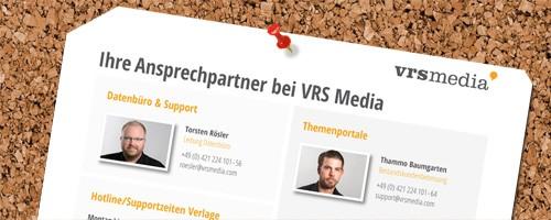 VRS Media Ansprechpartner Support